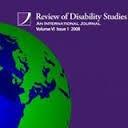 "Logo and description ""Review of Disability Studies: An International Journal"""